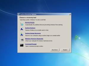 Възстановяване на Windows 7