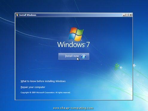 инсталиране на Windows 7 на компютър