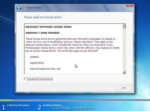 инсталиране на лаптоп