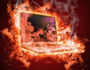 прегряване на лаптоп